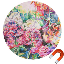 Watercolor Floral Car Magnet
