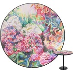 Watercolor Floral Round Table