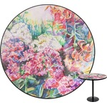 Watercolor Floral Round Table Top