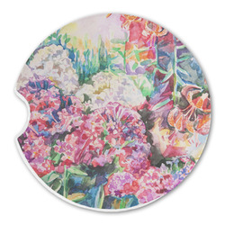 Watercolor Floral Sandstone Car Coaster - Single