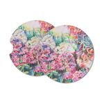 Watercolor Floral Sandstone Car Coasters