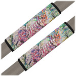 Watercolor Floral Seat Belt Covers (Set of 2)