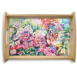 Watercolor Floral Natural Wooden Tray