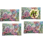 Watercolor Floral Set of 4 Rectangular Dinner Plates (Personalized)