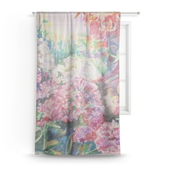 Watercolor Floral Sheer Curtains
