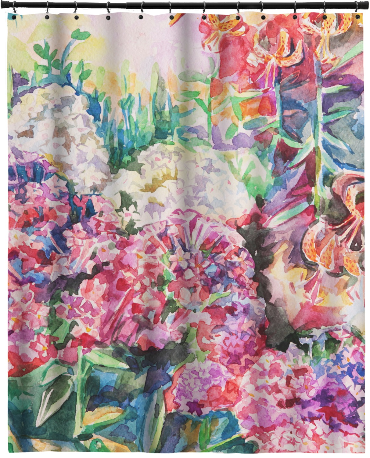 Watercolor Floral Shower Curtain 70x90