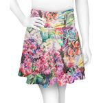 Watercolor Floral Skater Skirt