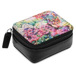 Watercolor Floral Small Leatherette Travel Pill Case