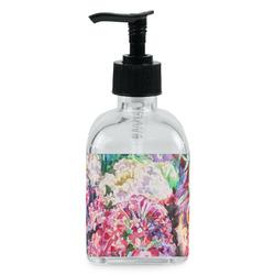 Watercolor Floral Soap/Lotion Dispenser (Glass)