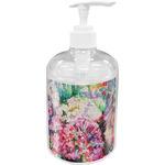 Watercolor Floral Soap / Lotion Dispenser