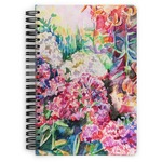 Watercolor Floral Spiral Bound Notebook