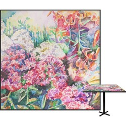 Watercolor Floral Square Table Top