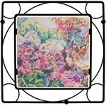 Watercolor Floral Square Trivet
