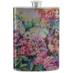 Watercolor Floral Stainless Steel Flask