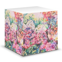 Watercolor Floral Sticky Note Cube