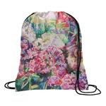 Watercolor Floral Drawstring Backpack