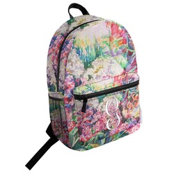 Watercolor Floral Student Backpack