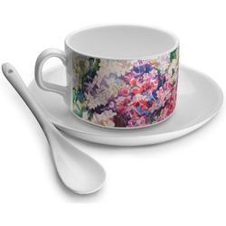 Watercolor Floral Tea Cup - Single