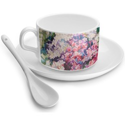 Watercolor Floral Tea Cup - Single