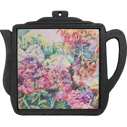 Watercolor Floral Teapot Trivet