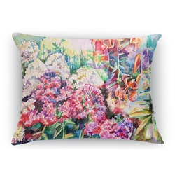 Watercolor Floral Rectangular Throw Pillow Case