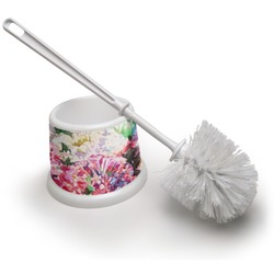 Watercolor Floral Toilet Brush