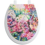 Watercolor Floral Toilet Seat Decal