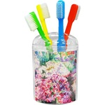 Watercolor Floral Toothbrush Holder
