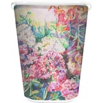 Watercolor Floral Waste Basket - Single Sided (White)