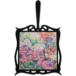Watercolor Floral Trivet with Handle