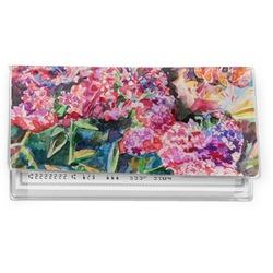 Watercolor Floral Vinyl Check Book Cover