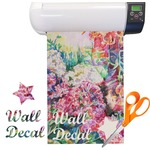 Watercolor Floral Vinyl Sheet (Re-position-able)