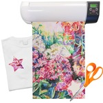 "Watercolor Floral Heat Transfer Vinyl Sheet (12""x18"")"
