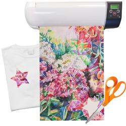 "Watercolor Floral Heat Transfer Vinyl Sheet (12""x18"")"