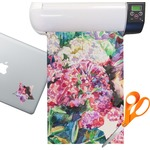 Watercolor Floral Sticker Vinyl Sheet (Permanent)