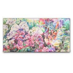 Watercolor Floral Wall Mounted Coat Rack