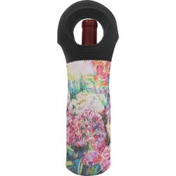 Watercolor Floral Wine Tote Bag