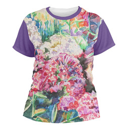 Watercolor Floral Women's Crew T-Shirt