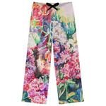 Watercolor Floral Womens Pajama Pants