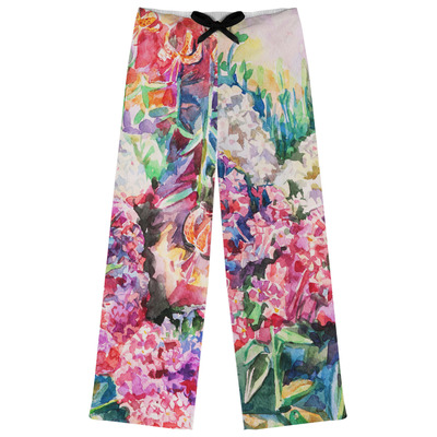 Watercolor Floral Womens Pajama Pants - XL