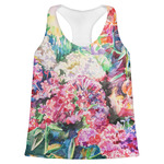Watercolor Floral Womens Racerback Tank Top