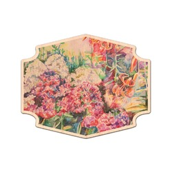 Watercolor Floral Genuine Maple or Cherry Wood Sticker