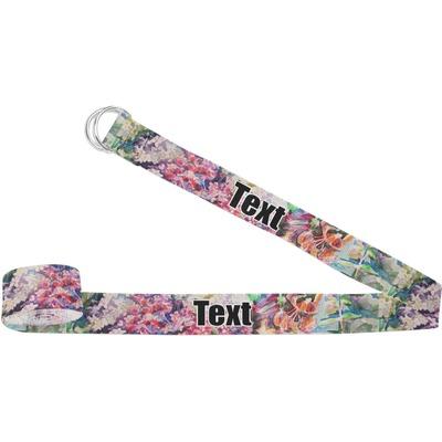 Watercolor Floral Yoga Strap