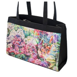Watercolor Floral Zippered Everyday Tote