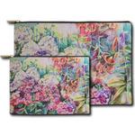 Watercolor Floral Zipper Pouch
