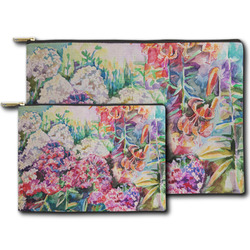 Watercolor Floral Zipper Pouch