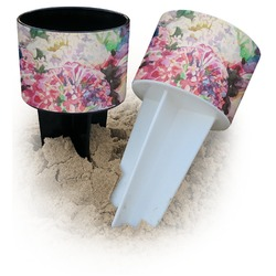 Watercolor Floral Beach Spiker Drink Holder