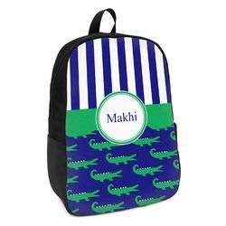 Alligators & Stripes Kids Backpack (Personalized)