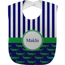 Alligators & Stripes Baby Bib (Personalized)