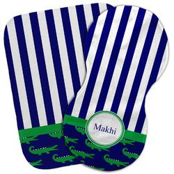 Alligators & Stripes Burp Cloth (Personalized)